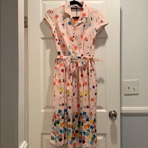 Unique Vintage Pantone Dress Medium K732B